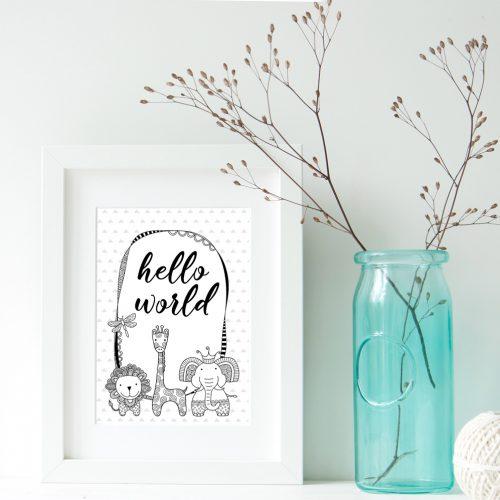 DIY hello world frame