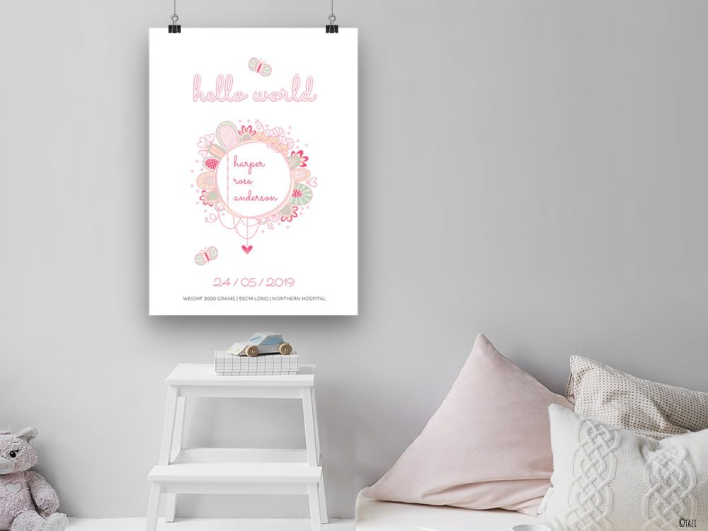 DIY hello-world-nursery-poster