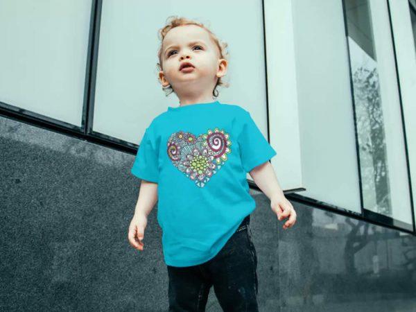 DIY heart doodle infant-tee