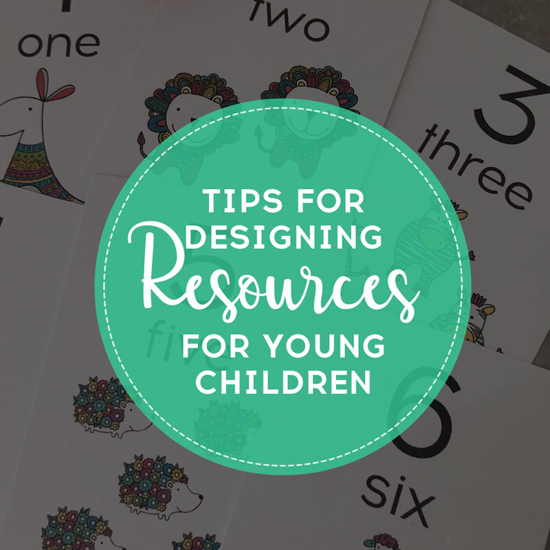 DIY designing learning resources for children