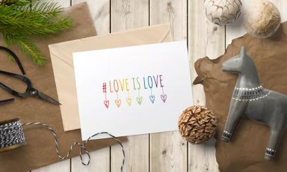 DIY love-is-love-card