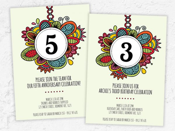 DIY number-invitation
