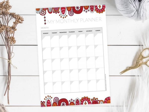 DIY planner-monthly-mockup