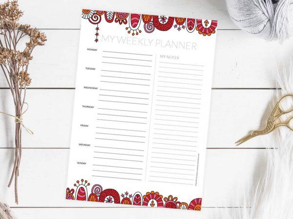 DIY planner-weekly-mockup
