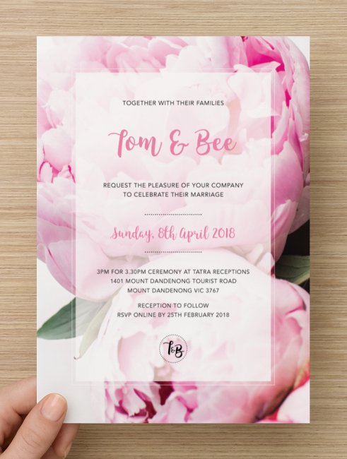 DIY TB Custom Invitation