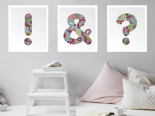 DIY punctuation-posters
