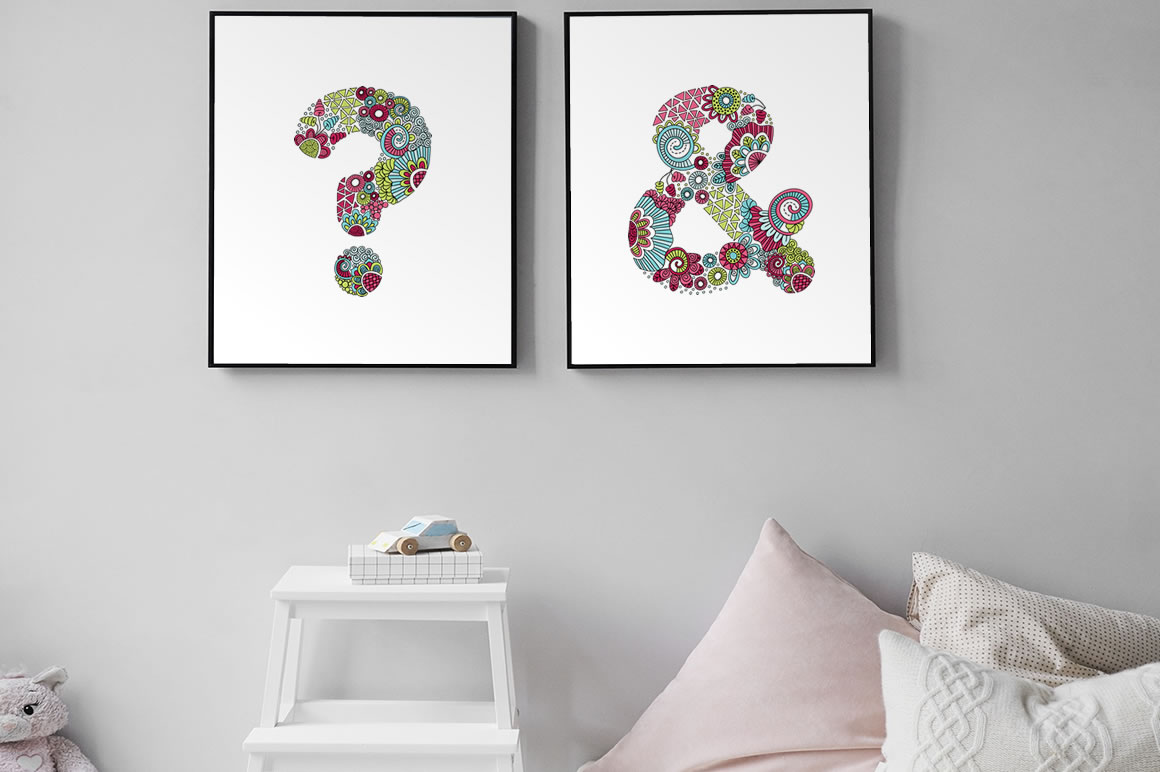 DIY punctuation bedroom