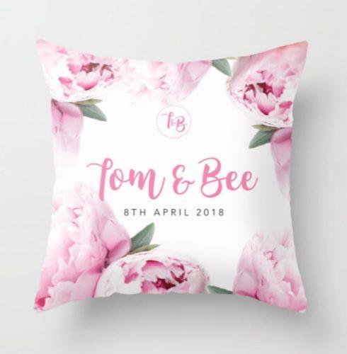 DIY TB custom wedding cushion