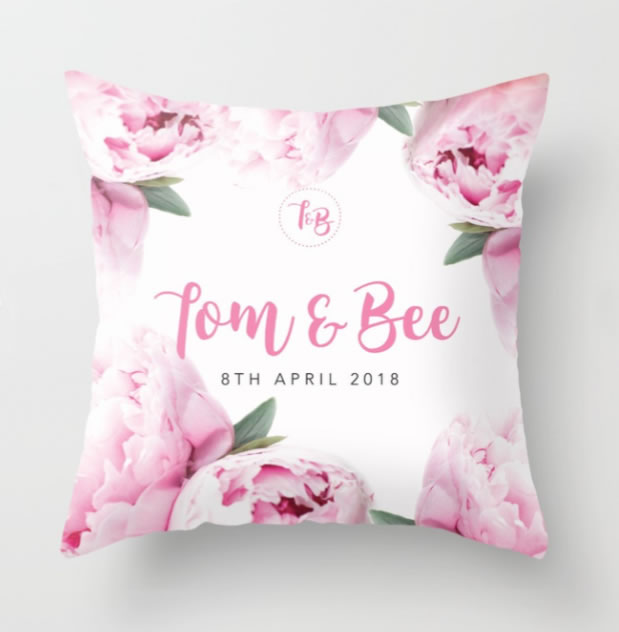 DIY TB custom wedding cushion