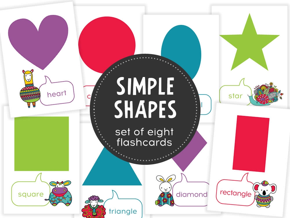photograph regarding Printable Shape Flashcards called Early Understanding Form Flash Playing cards Electronic Down load